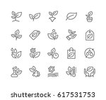 simple set of plants related... | Shutterstock .eps vector #617531753