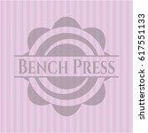 bench press pink emblem.... | Shutterstock .eps vector #617551133