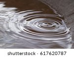 Raindrop And Ripples In Water