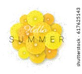 summer background with text... | Shutterstock .eps vector #617625143
