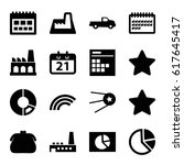 trendy icons set. set of 16...