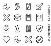 Tick Icons Set. Set Of 16 Tick...