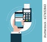 e commerce flat vector... | Shutterstock .eps vector #617652863
