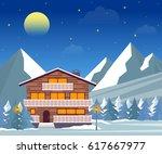 Ski Resort  Hotel Or Winter...
