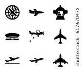 plane icons set.  | Shutterstock .eps vector #617670473