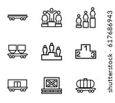 platform icons set. set of 9... | Shutterstock .eps vector #617686943
