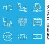 usb icons set. set of 9 usb... | Shutterstock .eps vector #617698733