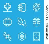 international icons set. set of ... | Shutterstock .eps vector #617702093