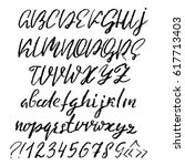 handwritten vector chalked... | Shutterstock .eps vector #617713403