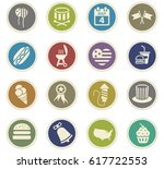 independence day vector icons... | Shutterstock .eps vector #617722553