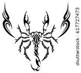 tribal scorpion | Shutterstock .eps vector #617727473