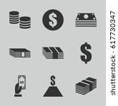 tax icons set. set of 9 tax... | Shutterstock .eps vector #617730347