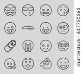 funny icons set. set of 16... | Shutterstock .eps vector #617735363