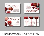 makeup artist business card.... | Shutterstock .eps vector #617741147