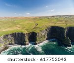 aerial ireland countryside... | Shutterstock . vector #617752043