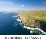 aerial ireland countryside... | Shutterstock . vector #617752073