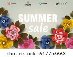summer sale illustration with... | Shutterstock .eps vector #617756663