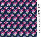 pretty vintage feedsack pattern ... | Shutterstock .eps vector #617771723