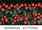 seamless folk border in small... | Shutterstock .eps vector #617772563