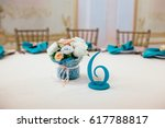 the numbering of the tables in... | Shutterstock . vector #617788817