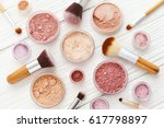 makeup powder products with... | Shutterstock . vector #617798897