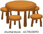 round table and chairs | Shutterstock .eps vector #617810093
