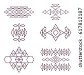 aztec pattern elements for your ... | Shutterstock . vector #617812187