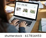 e commerce online shopping... | Shutterstock . vector #617816453