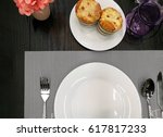 freshly baked muffins with... | Shutterstock . vector #617817233