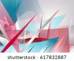 abstract unusual modern... | Shutterstock .eps vector #617832887