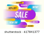 colorful horizontal dynamic... | Shutterstock .eps vector #617841377
