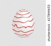 easter egg designed with hand... | Shutterstock .eps vector #617844653