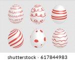 easter egg set designed with... | Shutterstock .eps vector #617844983