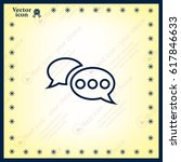 chat flat icon with shadow.... | Shutterstock .eps vector #617846633