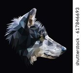 wolf low poly design. triangle... | Shutterstock .eps vector #617846693