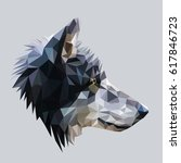 wolf low poly design. triangle... | Shutterstock .eps vector #617846723
