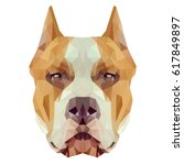american staffordshire terrier... | Shutterstock .eps vector #617849897