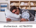 Tired Man Sleeping At Home...