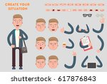 man constructor. separate part... | Shutterstock .eps vector #617876843