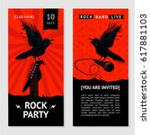 rock music flyer. concert... | Shutterstock .eps vector #617881103