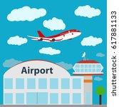 airport icon  vector...   Shutterstock .eps vector #617881133