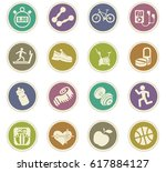 fitness vector icons for user