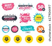 sale shopping banners. special... | Shutterstock .eps vector #617904497