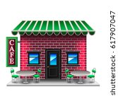 american style cafe isolated on ... | Shutterstock .eps vector #617907047