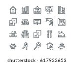 real estate. set of outline... | Shutterstock .eps vector #617922653