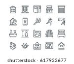 real estate. set of outline... | Shutterstock .eps vector #617922677