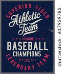 vintage varsity graphics and... | Shutterstock .eps vector #617939783