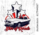 star of roads vector t shirt... | Shutterstock .eps vector #617944067