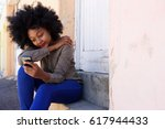 portrait of young african woman ... | Shutterstock . vector #617944433