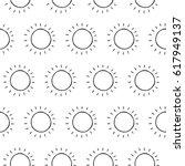 cartoon sun pattern with hand...   Shutterstock . vector #617949137